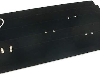 Black, 6 888 Display USA 6 Pcs 72 Slot Black Jewelry Travel Ring Inserts Display Pads