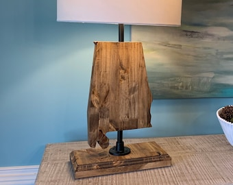 Alabama Crimson Tide Plate Rolled in on The lamp Base 2017 National Champions JS Table Lamp with Shade