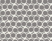 Art Gallery Fabric, Round Elements, Pepper Smoke, 8 quot square pic - 100 cotton quilting fabric