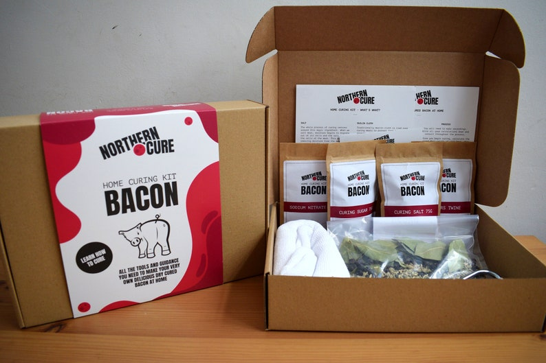 BACON KIT Bacon Curing Kit Home Curing Kit Foodie Gift image 0