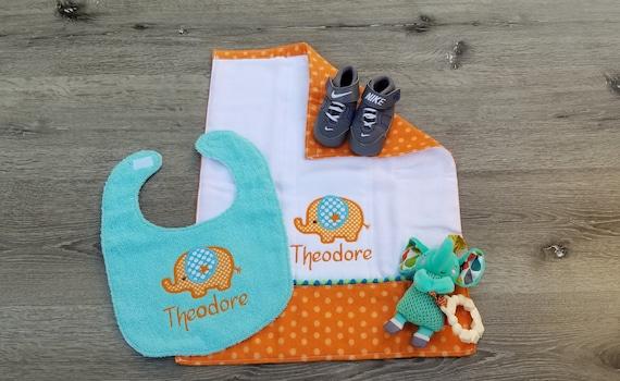 Baby Girl Baby Shower Gift Monogram Baby Bibs- Personalized Baby Bibs Baby Gift Baby Boy Baby Clothes