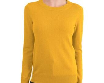 Cashmere Sweater Yellow Unisex
