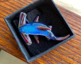 glass sea animals shark pendant glass glass shark jewelry murano shark pendant Glass shark glass shark pendant glass collectibles