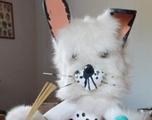 White Rabbit Kachina Doll by Cindy Kachada