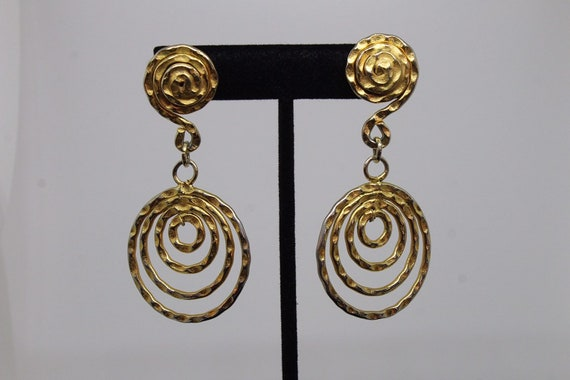 Funky Vintage Circular Earrings
