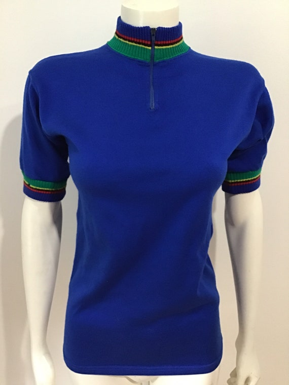 60s Vintage Alex Sport Cycle Bike knit jersey or s