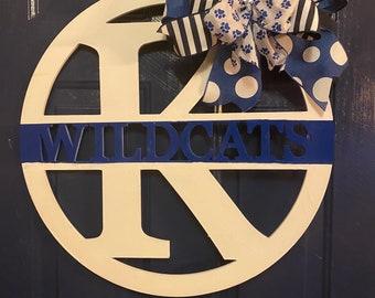 University of Kentucky Door Hanger / Wreath UK