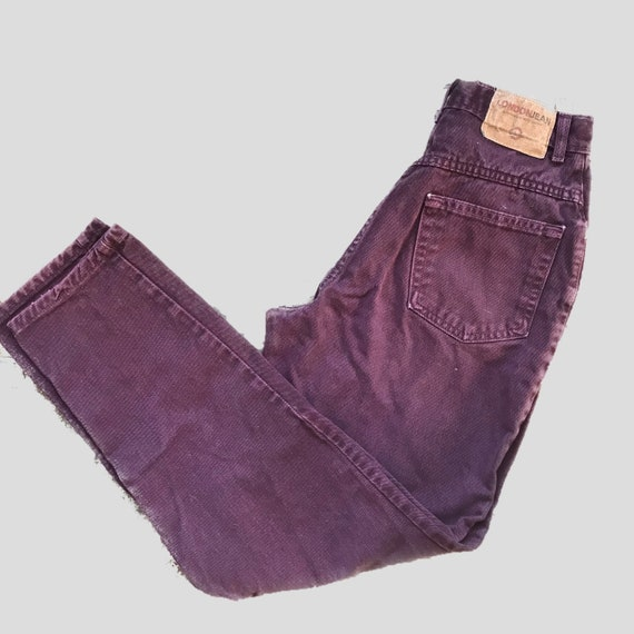 Vintage 80's purple mom jeans