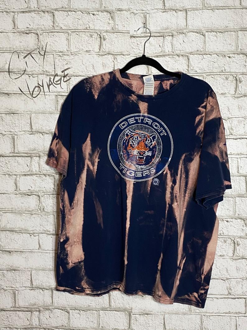 Detroit Tigers acid washed t-shirt