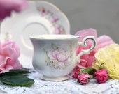 Vintage Canterbury quot Satsuma quot Tea Cup Saucer Fine Bone China Engels porselein