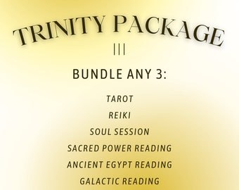 Trinity Package • Bundle Any 3: Tarot, Healing, Gift Boxes, Soul Session