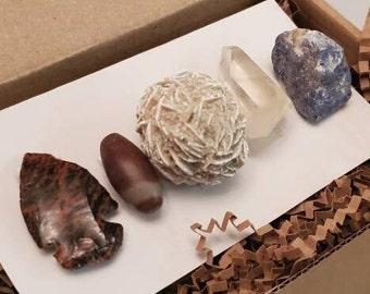 the alchemist crystal gift box • spiritual・shaman・earth ・air・fire ・water・lemuria・atlantis ・lightworker・new earth