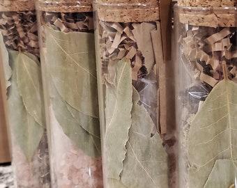 the hierophant gift jar • salt & smudge gift set • spiritual protection • shungite • palo santo • himalayan salt • sacred herbs • bath salts
