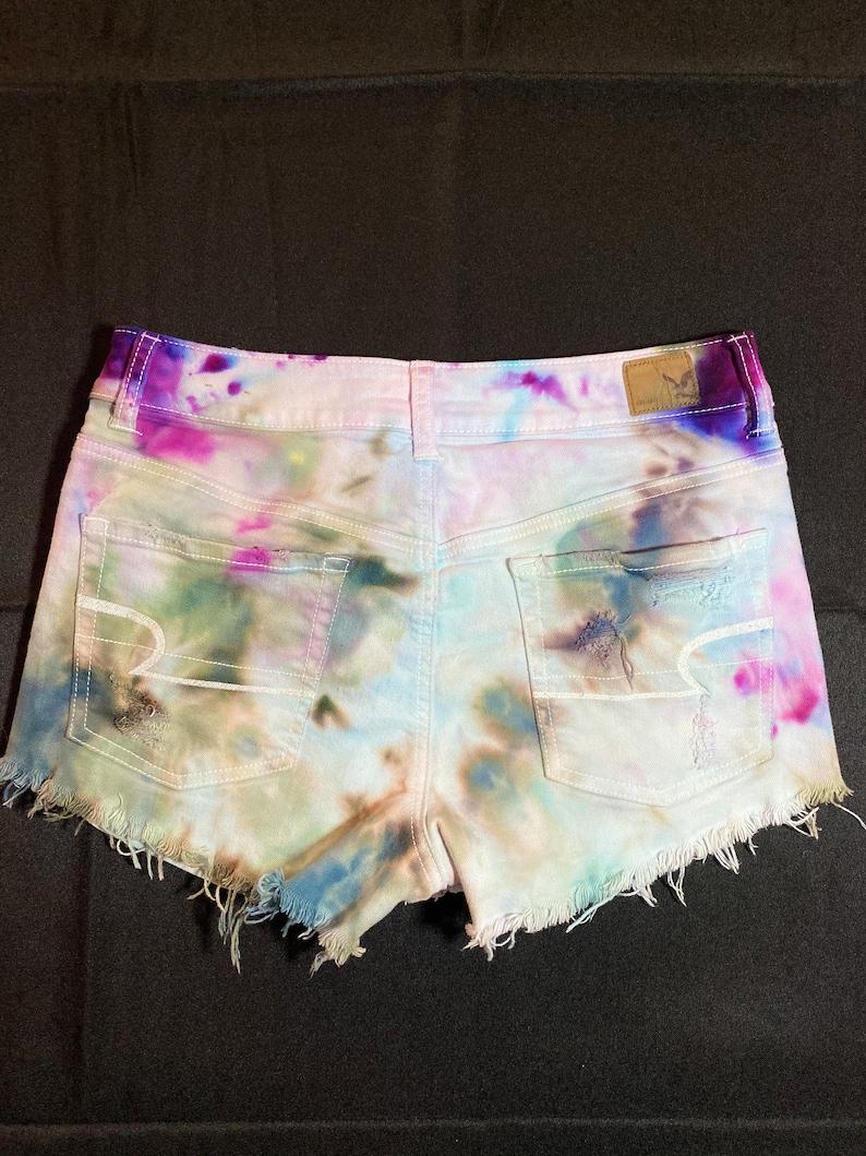 Size 10 Ice Dyed women/'s shorts