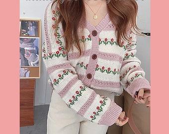 Korean Sweater Etsy