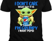 Baby Yoda I m Grumpy I Want Pepsi Shirt
