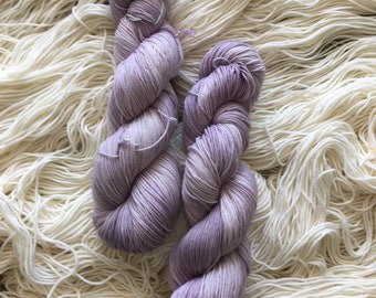 Lyl Sock merinos superwash nylon - Fingering - Color OOAK Mauve