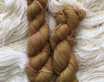 Lyl Sock merinos superwash nylon - Fingering - Tobacco Color