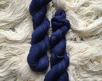 Lyl Sock merinos superwash nylon - Fingering - Colour Hisseo Matelot