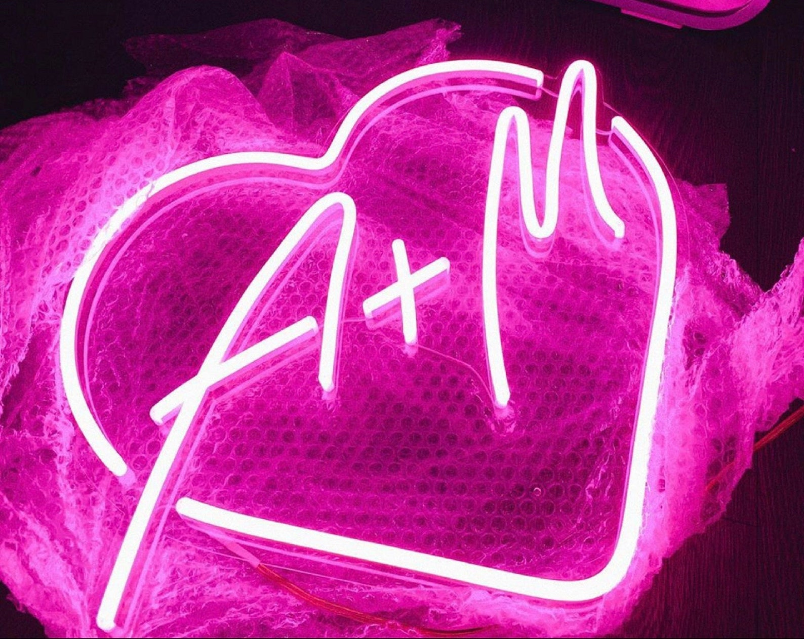 LED Neon Hearts with Initials