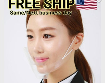 5pcs+Anti fog BPA-free Ultra light Transparent clear mask mouth shield