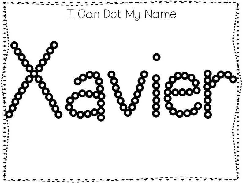 20 Printable Xavier Name Tracing Worksheets And Activities No Etsy