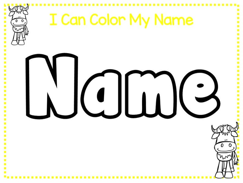 20 CUSTOM Farm Animals Themed First Name No Prep Non-Editable SINGLE Name Tracing Worksheets and Activities PDF file emailed after purchase