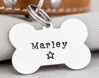 Dog Bone Pet ID Tag (Desert Collection) • Hand Stamped Pet Tags • Puppy Tag • Personalized Dog Tag • Unique Pet Tags