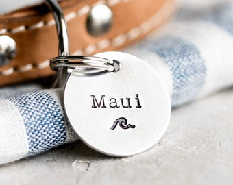 Pet ID Tag (Nautical Collection) • Hand Stamped Pet Tags • Puppy Tag • Kitty Tag • Personalized Dog Tag • Cat Tag • Unique Pet Tags