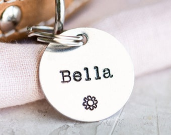Pet ID Tag (Boho Collection) • Hand Stamped Pet Tags • Puppy Tag • Kitty Tag • Personalized Dog Tag • Cat Tag • Unique Pet Tags