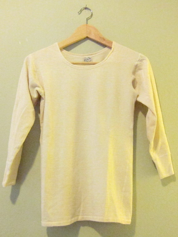 Vintage Long Sleeve Thermal Size Small Women's