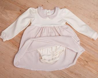 Body Dress Baby, Body Dress Girl, Body for Girls, Body with Button Placket, Tunic Dress Jersey, Dress Body Autumn, Dress Bubikragen Baby