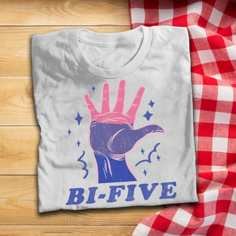LGBT Pride Bi Five T Shirt