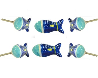 4 Cabinet Knobs for Dresser Drawers Cabinet Handles Pulls for Home Office Cupboard Tropical Jelly Fish with Corrals