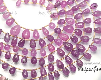 Beautiful Natural Faceted Very Rare Multi Sapphire Teardrop Beads 2.5mm Drop Shape Gemstone Beads 19 Inch Strand Top Quality
