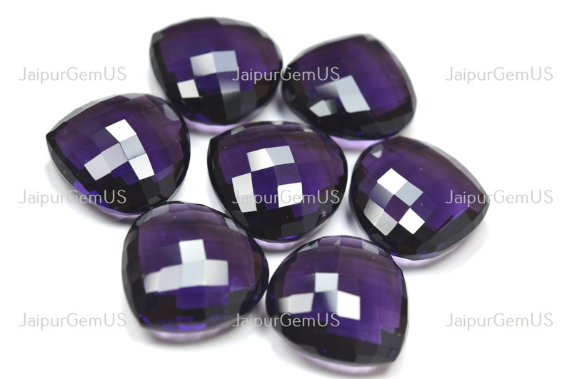 Purple Amethyst Hydro Quartz Undrilled Fancy Faceted Heart Shape Beads Finest Quality 1 Match Pair Size-25.00mm