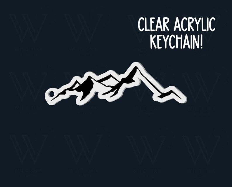 mountain keychain mountain water bottle keychain workout keychain hiking love keychain outdoor keychain mountain adventure keychain