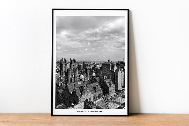 Edinburgh Print  Travel Photography Print  Scotland United image 0