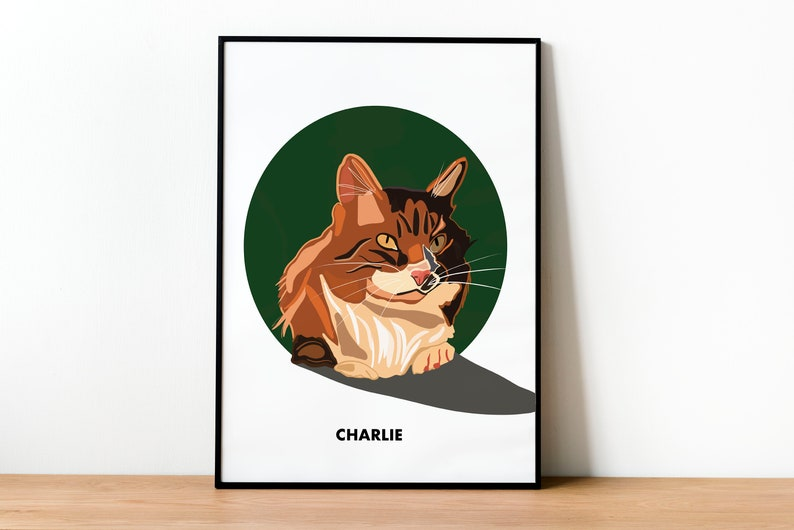 Custom Pet Portrait Illustration Print Drawing from a Photo  image 0