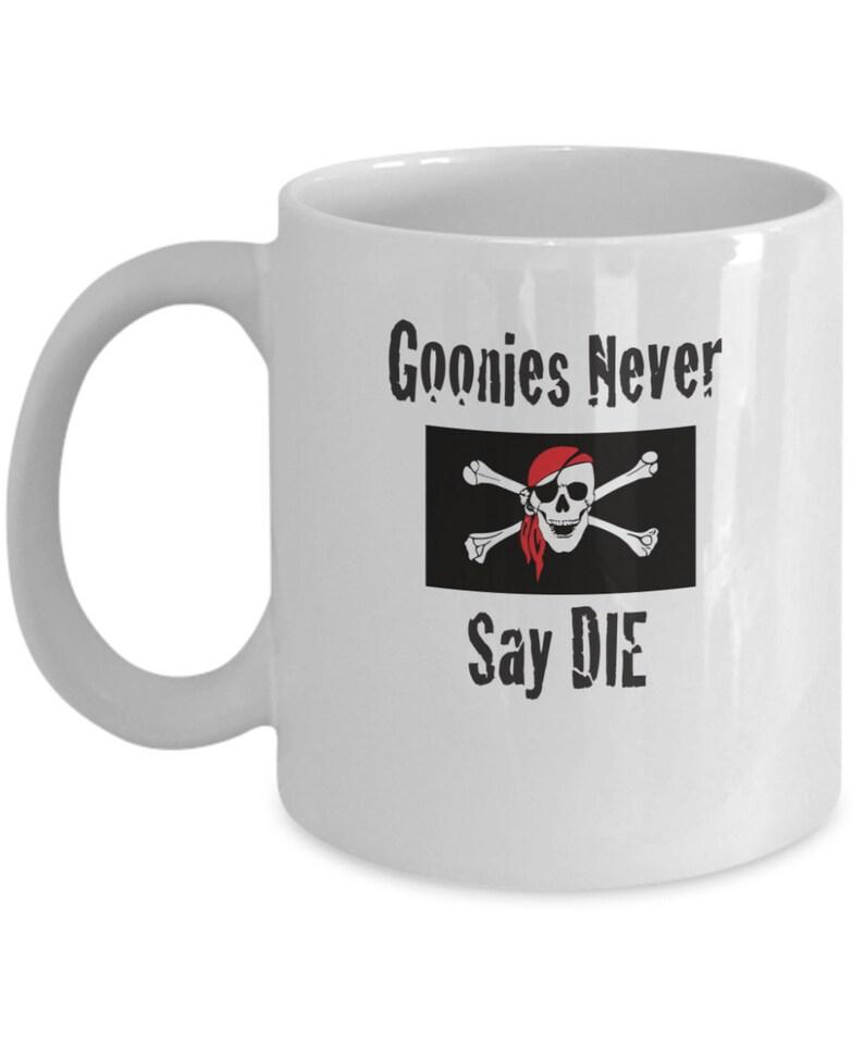 Goonies Never Say Die Skull and Crossbones Mug