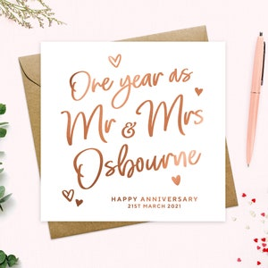 Wedding Anniversary Card for Husband Wife Partner /& Freepost 1st Class Post