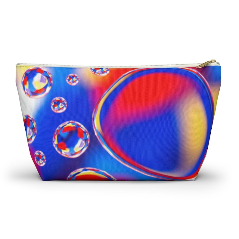 Accessory Pouch w T-bottom Matching Backpack Sold Separately Colorful Bubble Pencil Bag Make-Up Bag