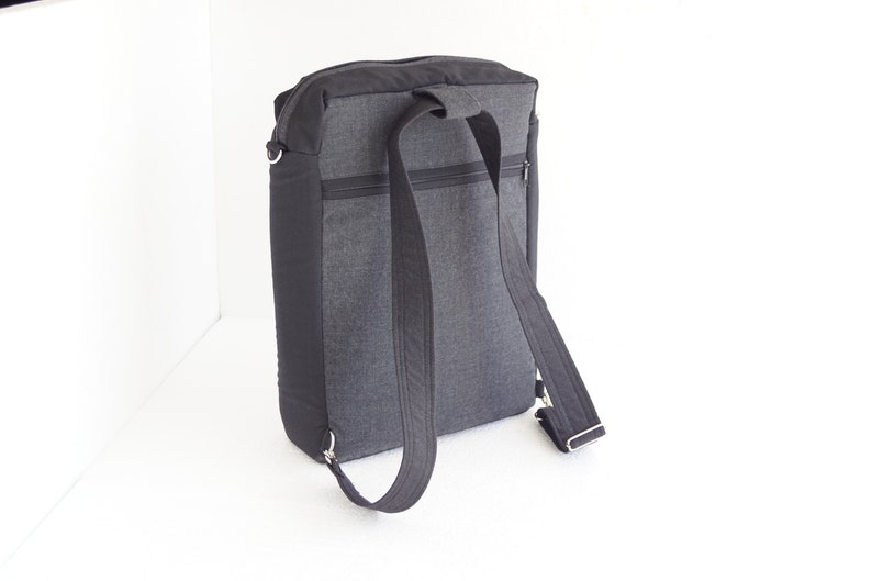 Padded Ready to Ship-Backpack CONVERTIBLE Messenger laptop bag-Shoulder bag-Laptop Compartment
