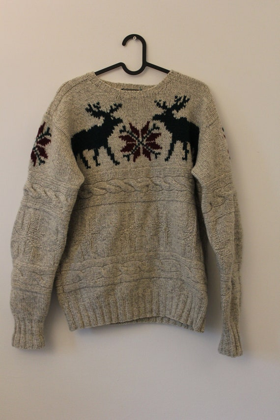 Vintage Polo Ralph Lauren Hand Kitted Sweater, Car