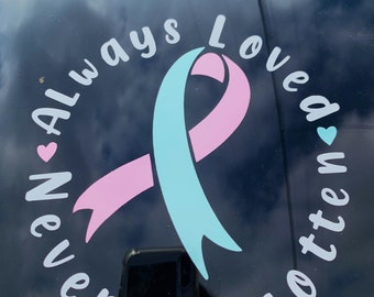 Miscarriage Awareness Car Decal / pregnancy lost / miscarriage gift / car stickers