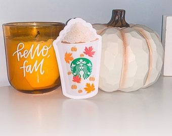 Fall Pumpkin Spice Starbucks Stickers / glossy / matte / water resistant/ waterproof/ Halloween/