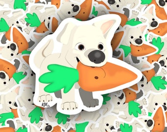 """Disney Dog Bolt with Chew Toy Carrot 2"""" Stickers/ laptop/car/notebook/agenda/iPad/phone stickers"""