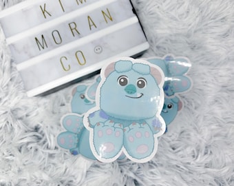 Sully Plush Sticker | Monsters Inc. Sticker | baby sully | Disney stickers | Pixar | We scare because we care | monsters inc.