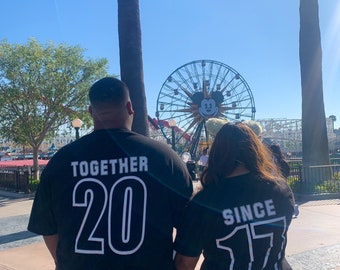 UP inspired Couples Shirt / together since / earl and Ellie /marriage couple shirts / Disney outfits