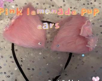 Puppy ears PINK LEMONADE